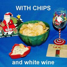 Load image into Gallery viewer, Ginger Sesame Chip Dip served with white wine Christmas