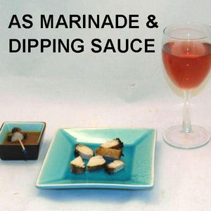 Grilled chicken breast with Madras Vinaigrette marinade and dipping sauce, served with rose wine