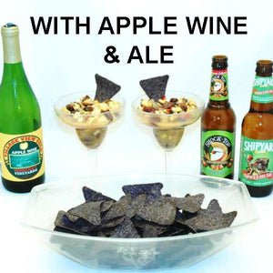 Caramel Apple Habanero Salsa made two ways, with apple wine and apple ale