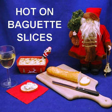 Load image into Gallery viewer, Hot Artichoke Dip and baguette slices, served with white wine  Christmas