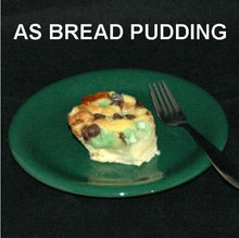 Load image into Gallery viewer, Irish Cream Bread Pudding with mint and chocolate chips