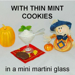 Irish Cream Mousse with Thin Mint Cookies Fall
