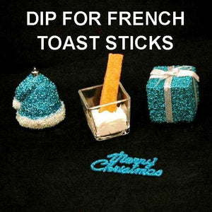 French toast sticks with Irish Cream Mousse for dipping Christmas