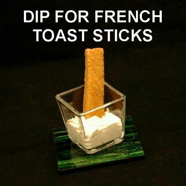 French toast sticks with Irish Cream Mousse for dipping