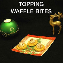 Load image into Gallery viewer, Waffle Bites with Irish Cream Mousse Topping Christmas