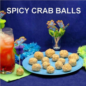Jamaican Orange Crab Balls and tropical cocktail Summer