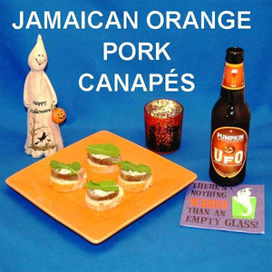 Jamaican Orange Roast Pork Canapés with seasonal ale Hallow