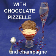 Load image into Gallery viewer, Kahlua Chocolate Mousse with chocolate pizzele and champagne Valentine's