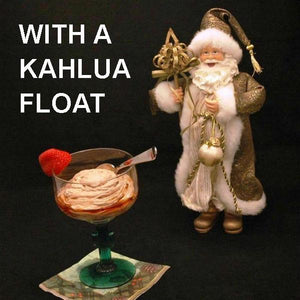 Kahlua Chocolate Mousse in margarita glass with Kahlua float Christmas