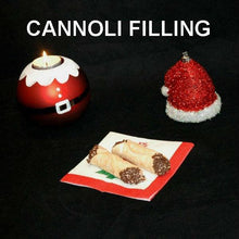 Load image into Gallery viewer, Cannoli filled with Kahlua® Chocolate Mousse, garnished with chocolate sprinkles Christmas