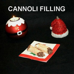 Cannoli filled with Kahlua® Chocolate Mousse, garnished with chocolate sprinkles Christmas