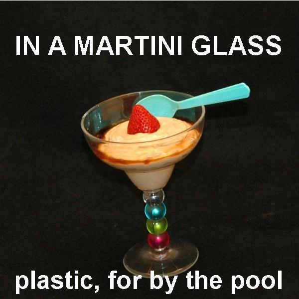 Kahlua® Chocolate Mousse in margarita glass with Kahlua float, garnished with fresh strawberry Summer