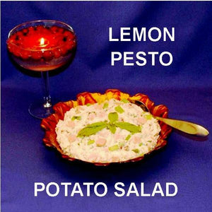 Lemon Pesto Potato Salad with ham and scallions Fall