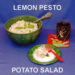 Lemon Pesto Potato Salad with ham and scallions Christmas casual