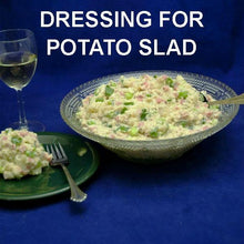 Load image into Gallery viewer, Lemon Pesto Potato Salad with ham and scallions, served with white wine