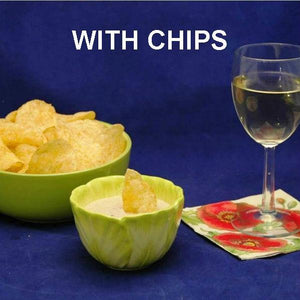 Madras mayonnaise and sour cream chip dip, served with white wine Summer