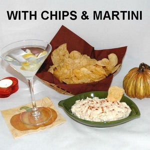 Madras mayonnaise and sour chip cream dip with martini Fall