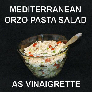 Mediterranean Orzo Pasta Salad with Madras Vinaigrette Dressing