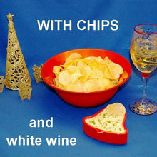 Load image into Gallery viewer, Mango Curry Chip Dip with white wine Christmas