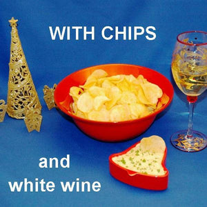 Mango Curry Chip Dip with white wine Christmas