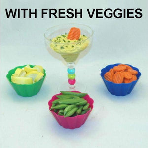 Mango Curry Dip with fresh raw sugar snap peas, yellow squash and carrots Summer