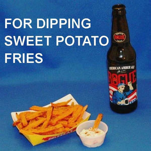 Sweet potato fries dipped in Maple Horseradish Dip served with Amber ale