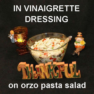 OrzoMediterranean Pasta Salad with Madras Vinaigrette Thanksgiving tailgating food