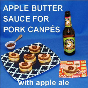 Pork and Apple Butter Canapés with apple ale Summer