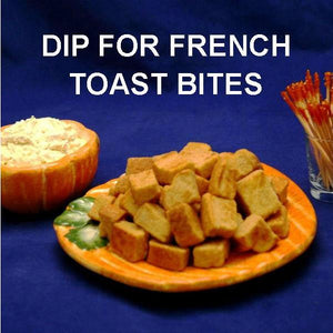 French toast bites to dip in Pumpkin Mousse Fall