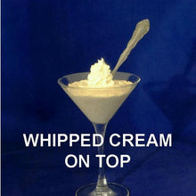 Load image into Gallery viewer, Pumpkin mousse garnished with whipped cream, served in a martini glass