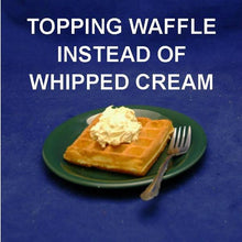 Load image into Gallery viewer, Breakfast waffle topped with Pumpkin Mousse