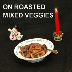 Queen of Sheba Roasted Vegetable Medley (beets, carrots, mushrooms, onions) Christmas