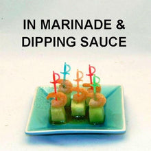 Load image into Gallery viewer, Shrimp & Melon Canapés with Queen of Sheba Vinaigrette Marinade and Dipping Sauce