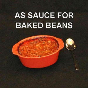 Baked Beans with Queen of Sheba Spicy Ketchup Sauce