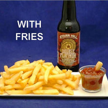 Fries with Queen of Sheba Spicy Ketchup and IPA ale
