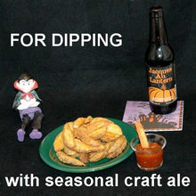 Load image into Gallery viewer, Fries with Queen of Sheba Spiced Ketchup and pumpkin ale Hallow
