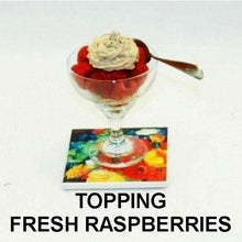 Load image into Gallery viewer, Raspberry Chocolate Mousse topping fresh raspberries Summer