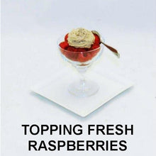 Load image into Gallery viewer, Raspberry Chocolate Mousse topping fresh raspberries