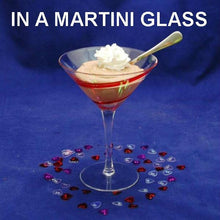 Load image into Gallery viewer, Raspberry Chocolate Mousse garnished with whipped cream, in martini glass Valentine's