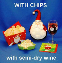 Load image into Gallery viewer, Raspberry Horseradish mayonnaise and sour cream chip dip served with rose wine Christmas