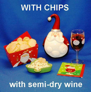 Raspberry Horseradish mayonnaise and sour cream chip dip served with rose wine Christmas