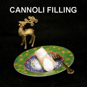 Cannoli filled with Raspberry Lemon Mousse Christmas