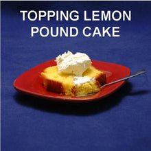 Load image into Gallery viewer, Lemon pound cake topped with Raspberry Lemon Mousse Fall