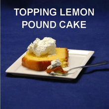 Load image into Gallery viewer, Lemon pound cake topped with Raspberry Lemon Mousse