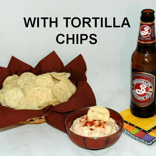 Rio Grande mayonnaise and sour cream dip and tortilla chips, served with ale