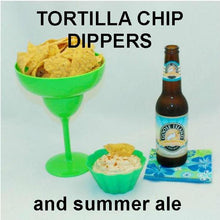 Load image into Gallery viewer, Spicy Rio Grande mayonnaise and sour cream dip with tortilla chips and Summer ale