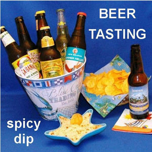Spicy Rio Grande mayonnaise and sour cream dip, with tortilla chips and summer ales for tasting