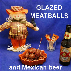Rio Grande Spiced Ketchup Glazed Meatballs, with ale Fall