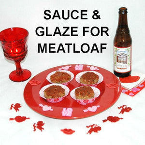 Meatloaf Cupcakes with Rio Grande sauce and glaze, served with winter ale Valentine's