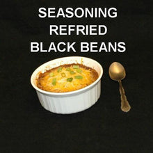 Load image into Gallery viewer, Rio Grande Refried Black Beans, garnished with melted cheddar cheese, side dish